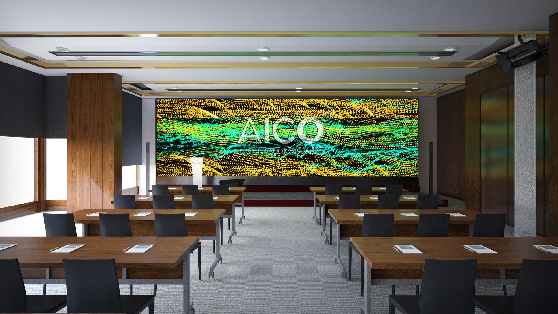 Hotel Melia 1 pantalla 750cm Led_Aico